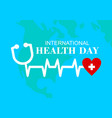 international health day logo vector image vector image