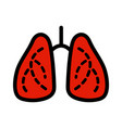 lungs simple color style icon organs symbol vector image