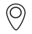 map pin line icon on white background flat style vector image