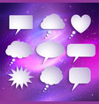 paper speech bubbles set vector image vector image