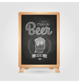Poster with Beer in mag Chalk drawing on blackboa vector image vector image