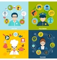 Professions flat set vector image vector image