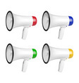 realistic 3d simple white megaphone icon vector image vector image
