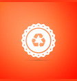 recycle symbol label icon environment recycling vector image vector image