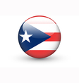 Round icon with flag of Puerto Rico vector image vector image