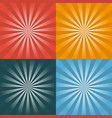 set of four retro background vector image
