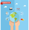 Social media world concept flat vector image vector image