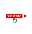 subscribtion button with notification bell vector image