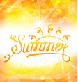 summer abstract background with text lettering vector image vector image