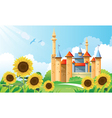 Summer Castle Background vector image vector image