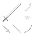 sword and blade icon vector image