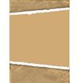 torn brown paper vector image vector image