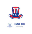 uncle sam hat icon thin line art colorful sign vector image