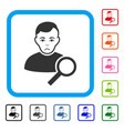 user search framed pitiful icon vector image vector image