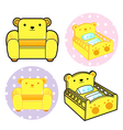 Various styles of baby crib and sofa sets vector | Price: 1 Credit (USD $1)
