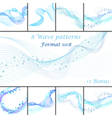 Water wave patterns set vector image vector image