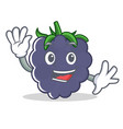 waving blackberry character cartoon style vector image vector image