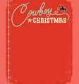 western red christmas card with rope text vector image vector image