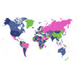 world map in four colors on white background high vector image vector image
