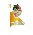 zombie costume role character halloween party look vector image
