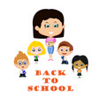 teacher with pupils vector image