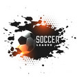 abstract grunge soccer league tournament vector image vector image