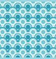 abstract of simple blue round wave pattern vector image vector image