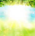 Abstract spring poster with shining sun and vector image vector image