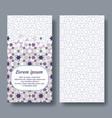 arabic double card for invitation celebration vector image vector image