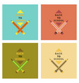 assembly flat icons back to school pencil vector image vector image