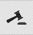 auction hammer icon court tribunal flat icon vector image vector image
