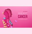 breast cancer awareness month horizontal vector image vector image