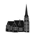 building single icon in black stylebuilding vector image