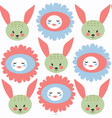 bunny abstract childish seamless pattern it is vector image vector image