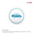 car icon - white circle button vector image