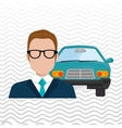 car salesman design vector image