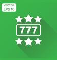 casino slot machine icon business concept 777 vector image