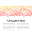 chinese new year line template vector image vector image