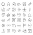 chirstmas related line style icon set editable vector image vector image