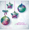 christmas background with abstract ornaments and vector image vector image