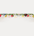 christmas banner concept holiday web header vector image vector image