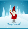 christmas card on a winter background happy vector image