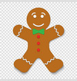 christmas gingerbread man cookie vector image vector image