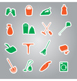 cleaning stickers set eps10 vector image vector image