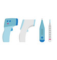 collection set medical thermometer simple icon vector image