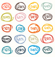 Colorful Hand Drawn Price Tags - Sale Labels vector image vector image