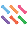 colorful icons sticking plasters vector image