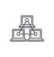 computer working group line icon concept computer vector image vector image
