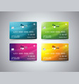 credit card set bright design with shadow vector image