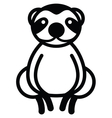 Cute animal sloth - vector image